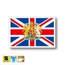イギリス国旗 国章ステッカー(シール)屋外耐候耐水 Sサイズ 5cm×7.5cm /スーツケースや車などに! 防水仕様