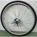 24インチ リアホイール アルミリム 14Tギア サーボブレーキ付(07B) タイヤチューブセット 【自転車】【一般車用パーツ】【タイヤ/チューブ/ホイールセット】