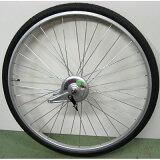 26インチ リアホイール アルミ 14Tギア サーボブレーキ付(07C) タイヤチューブセット 【自転車】【一般車用パーツ】【タイヤ/チューブ/ホイールセット】