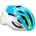 メット リヴァーレ HES シアン×ホワイト ヘルメット