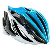 メット ストラディバリウス HES シアン×ブラック×ホワイト ヘルメット
