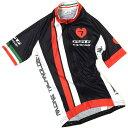 セブンイタリア GT-7R レディース Jersey ブラック/レッド