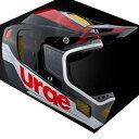 urge(アージュ) Down-O-Matic RR(ダウン オ マティック RR) レッド/ホワイト ヘルメット
