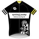 【代引不可】サンボルト サイクリングジャンキー ブラック×ネオンイエロー 半袖ジャージ