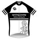 【代引不可】サンボルト サイクリングジャンキー ブラック×ホワイト 半袖ジャージ