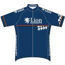 腳踏車 - リオン・ド・カペルミュール 半袖ジャージ 千鳥チップ ネイビー