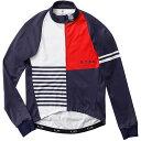 【現品特価】ステムデザイン サイクルジャケット長袖 (防風・裏起毛) ウインドブレークジャケット(クレージーパターン) ネイビー