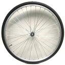 27インチフロントホイール ステンレスリム(04D) タイヤチューブセット 【自転車】【一般車用パーツ】【タイヤ/チューブ/ホイールセット】