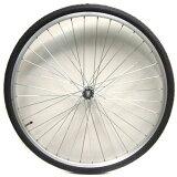 26インチフロントホイール アルミ(03C) タイヤチューブセット 【自転車】【一般車用パーツ】【タイヤ/チューブ/ホイールセット】