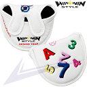 メカニカルショット!! パターカバー[マレットタイプ] ホワイト【PCM-134】【WINWIN STYLE】