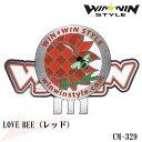 【最新モデル】CM-329 LOVE BEE  レッド おしゃれなクリップ&マーカーセット【WINWIN STYLE】