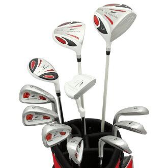 월드이 글 白鷲 5Z-WHITE 남성 골프 클럽 14 점 풀 세트 레드 가방 Ver. 오른쪽에