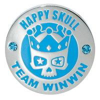 WINWIN STYLE メガマーカー HAPPY SKULL スカイブルー MM-255 メール便選択可能【あす楽】の画像