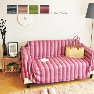 印度多功能布蓋 條紋系列沙發布 沙發織物 2 人座沙發 床 亞洲棉布 夏天
