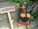 ダックス ウエルカムボードドッグ いぬ イヌ 動物 H106 犬の置物 ガーデン ガーデニング オブジェ オーナメント 置物