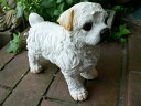 犬の置物 マルチーズ おまけ付 9404H2044 いぬ イヌ 動物 オーナメント ガーデン ガーデニング 庭 オブジェ 置物 陶器