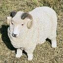 羊の置物 7271HT ひつじ 動物 置物 オブジェ ガーデン オーナメント ガーデニング ガーデンオブジェ アニマル リアル 庭 インテリア