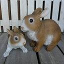 うさぎの置物 仲良し親子ラビット2羽セット MA363740 ウサギ ラビット 兎 オーナメント ガーデン オブジェ インテリア 置物 マスコット オーナメント ディスプレイ 庭 玄関 ガーデニング