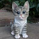猫の置物 子猫シバトラ 2680H キャット ガーデンオブジェ CAT 動物 オーナメント ネコ 雑貨 ガーデン オブジェ ガーデニング インテリア マスコット アニマル リアル ディスプレィ ねこ グッズ
