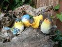 バード4羽セット(S) 小鳥 とり トリ オブジェ 動物 オーナメント 632H ガーデン ガーデニング インテリア 置物 マスコット 庭