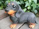 犬の置物 ダックスフンド おまけ 2003H いぬ イヌ 動物 オーナメント オブジェ インテリア 庭 陶器 インテリア