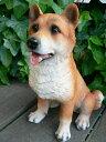犬の置物 柴犬 おまけ付 9412H2127 いぬ イヌ 動物 オーナメント ガーデン オブジェ/犬/置物 庭 インテリア 陶器 雑貨
