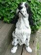 犬の置物 大型犬 イングリッシュスプリンガースパニエル N11065 いぬ イヌ 動物 オーナメント ガーデン インテリア 雑貨 置物 庭 ガーデンマスコット