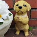犬の置物 ラブラドールのお願い 7360HT いぬ イヌ 動物 オーナメント ガーデン インテリア 雑貨 置物 庭 ガーデンマスコット 雑貨小物 ディスプレィ 陶器 リアル