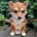 犬の置物 柴犬 おじぎドッグ 子犬 167QY いぬ イヌ 動物 オーナメント ガーデン オブジェ 庭 雑貨 ガーデニング インテリア マスコット リアル ディスプレィ