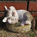 猫の置物 ウエルカム居眠り小猫 シバトラ N13650 キャット ガーデンオブジェ CAT 動物 オーナメント ネコ 雑貨 ガーデン オブジェ ガーデニング インテリア マスコット アニマル リアル ディスプレィ ねこ グッズ