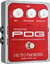 【商品名】■Electro Harmonix Micro POG オクターバー 【カテゴリー】楽器:ピッチシフター・オクターバー【商品説明】White Stripes等の使用で有名なPOG。その弟にあたるポリフォニック・オクターブ・ジェネレーターです。POG同様、和音にも使用可能。トラッキングが早く、オクターブ上とサブ・オクターブを生成します。6弦ギターを12弦ギターのようにしたり、ベースにサブ・オクターブを加えて、独特の太さを加えること等が可能です。トラッキングの速い、和音に対応したポリフォニック・オクターバーで、オクターブ上とサブ・オクターブをMIX可能。煌びやかな12弦ギターのようなサウンドやシンベのようなサブオクターブ・サウンドはもちろん、全てをMIXすることにより、オルガンのような極太サウンドもメイキング可能。細かなオクターブやフィルターなどを取り除くことによってシンプルに、そして使いやすくなりました!気軽に他のギタリストとは一味違った効果を出したい方にぜひオススメのエフェクターです!寸法:91W×50H×118Dmm 重量:350g 電源:アダプター(9VDCセンター・マイナス)