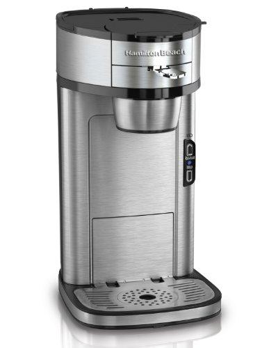 Hamilton Beach Single Serve Scoop Coffee Maker, Stainless オンライン Steel コーヒーメーカー:ワールドセレクトショップ