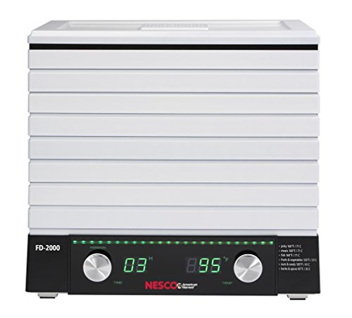 Nesco ネスコ 食品乾燥機 フードディハイドレーター FD-2000 Digital Square Dehydrator, 530-watt, Whit
