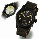 スタインハート/Steinhart/腕時計/ミリタリー/Military 42 Black/メンズ/スイスメイド/ブラック×ブラウン