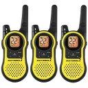 Motorola MH230TPR23-Mile(37キロ) Range 22-チャンネル トランシーバー 3台セット