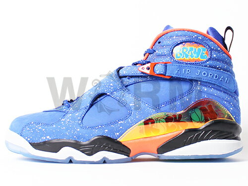 blue and orange jordan 8