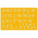 UCHIDA「カリグラフィーテンプレート(8822-801)」イタリック大文字・2ミリ用