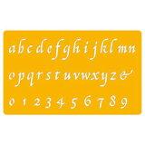 UCHIDA「カリグラフィーテンプレート(8822-802)」イタリック小文字・2ミリ用