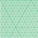トチマン「1mm立体三角グラフ用紙 B4(上質紙・25枚)」