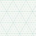 トチマン「5mm立体三角グラフ用紙 A2(上質紙・25枚)」