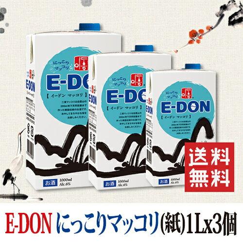 【送料無料】E-DON 二東マッコリ(紙パック)...の商品画像