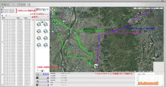 ��ư�ָ����ץǡ�����Ͽ����ξ���֥������դ�����GPS�?��JIS-GPS�'�ư�������ⵤĴ����ưĴ���Ķȴ����