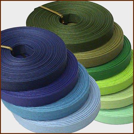 紙バンド(クラフトバンド・クラフトテープ)10m 「ブルー・グリーン系」 《注》ハマナカエ…...:wrapfun:10000158