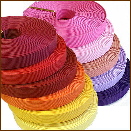 紙バンド(クラフトバンド・クラフトテープ)10m 「ウォーム・ピンク系」 《注》ハマナカエ…...:wrapfun:10000190