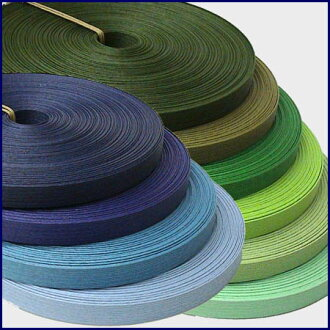"Paper band (craft band) 30m winding Fine color ""blue system & green system"""