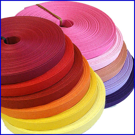 紙バンド(クラフトバンド・クラフトテープ)30m巻 ファインカラー「ウォーム系&ピンク系」…...:wrapfun:10000280