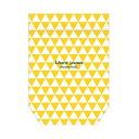 マチ付きジッパーバッグ ワールドクラフト ZIP-POCKET M triangle yellow