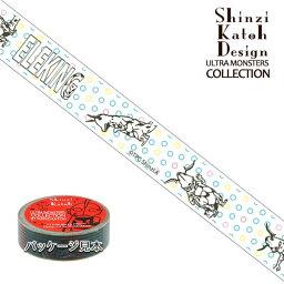 マスキングテープ ウルトラマン シンジカトウ/Shinzi Katoh ウルトラモンスターコレクション エレキング 1 15mm×10m