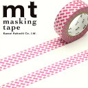 マスキングテープ mt カモ井加工紙mt DECOシリーズ編みチェック・ピンク(15mm×10m)MT01D333 1P