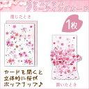 ポップアップグリーティングカード クローズピン/Clothes Pin GC-10698(桜)